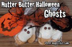 Nutter Butter Halloween Ghosts