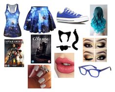 """""""Nightmare's Date"""" by raven-sterling467 ❤ liked on Polyvore featuring moda, Converse, Charlotte Tilbury y Starling Eyewear"""