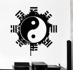 Wall Decal Buddha Yin Yang Yoga Meditation Relaxation Mandala Zen Decor (z2671)