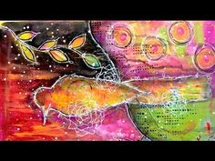 Mixed Media Intuitive Painting tutorial - YouTube