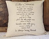 The South pillow cover, Southern Sayings pillow cover, Southern pillow, throw pillows, decorative pillow