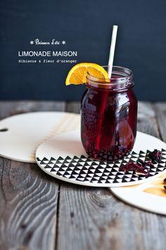 Hibiscus & Orange Flower Lemonade Recipe by murmures