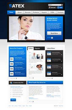 Rocket Business Joomla Template by Html5 Web Templates, via Behance