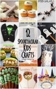 12 Spooktacular Halloween Kid Craft Ideas | #halloween #kidcrafts #crafts | at Simply Designing