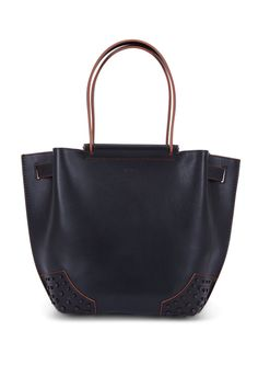 Tod's Wave Black Leather Small Tote