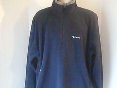 Champion Authentic Apparel Mens XL Black Fleece Sweat Shirt 100% Polyester #ChampionAuthenticApparel #FleeceTops