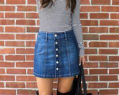 10 Formas en las que puedes combinar tu falda denim de botones