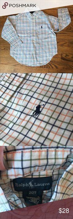 Polo Ralph Lauren plaid button down SZ 2/2T Polo Ralph Lauren plaid button down SZ 2/2T Polo by Ralph Lauren Shirts & Tops Button Down Shirts
