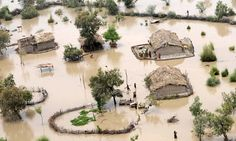 A PHOTO THAT REVEALS THE TRUTH ABOUT GLOBAL WARMING:  This photo shows A dramatic flooding in Pakistan in 2010. The rise in natural disasters over recent years can be directly attributed to climate change.