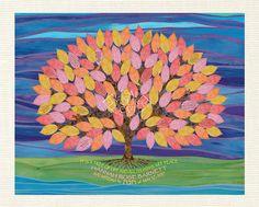 Bat Mitzvah or Bar Mitzvah Sign In Board Alternative Tree of