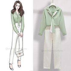 Teen Fashion, Korean Fashion, Fashion Outfits, Casual Work Outfits, Cool Outfits, Fashion Drawing Dresses, Clothing Sketches, Pants For Women, Clothes For Women