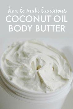 to Make Coconut Oil Body Butter - so easy, light and fluffy! How to Make Coconut Oil Body Butter - so easy, light and fluffy!How to Make Coconut Oil Body Butter - so easy, light and fluffy! Homemade Body Butter, Whipped Body Butter, Whipped Coconut Oil, Homemade Body Lotion, Homemade Soaps, Whipped Cream, Coconut Oil Cream, Homemade Deodorant, Homemade Moisturizer