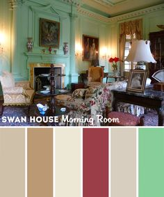 Swan House paint colors - Morning Room