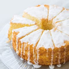 This moist, lemony chiffon cake is simple, delicate and delicious. The texture falls somewhere between a dense butter cake and a light and airy sponge cake.
