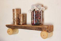 Log Shelf Rustic Log Home Cabin Decor Country by HomenStead, $30.00
