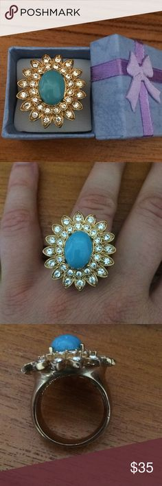 Fun Scaasi vintage ring! Size 10. All rhinestones intact. Ring box pictured is included. Vintage gem! Vintage Jewelry Rings