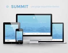 "FREE DESIGN GOOD of the Day  ""Summit - one page responsive theme by WebDesignCrowd"" http://on.be.net/1ER8TDu"