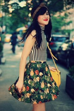 mix it up with stripes and florals! love the springtime yellowbag