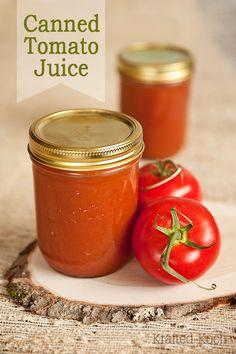 Grandma's Homemade Spiced Tomato Juice  - Krafted Koch - Canning Recipe