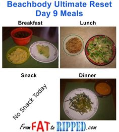 Beachbody Ultimate Reset Day 9 Meals