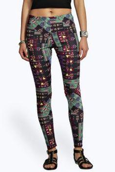 Belle Aztec Print Jersey Leggings