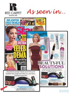 See Red Carpet Manicure in the January issue of STAR magazine http://starmagazine.com/