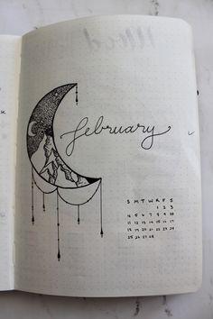 Bullet Journal February cover