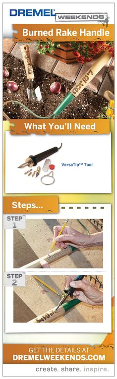 Leave your mark on your tools and tulips with this simple Dremel Weekends project.