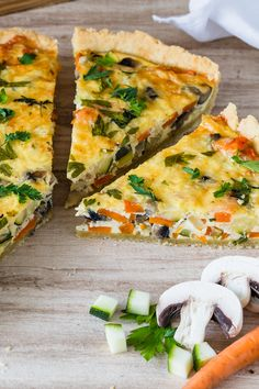 Vegetable Cake, Vegetable Quiche, Vegetable Recipes, Healthy Chicken Recipes, Vegetarian Recipes, Whole30 Recipes, Easy Dinner Recipes, Easy Meals, Sweet Recipes