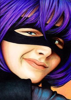 Hit Girl from Kick-ass painted by Trev Murphy