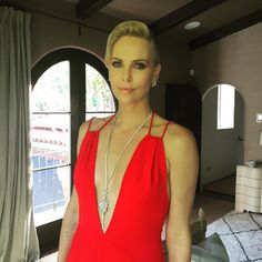 Charlize Theron thanked her glam squad. | All The Most Important Backstage Instagrams From The 2016 Oscars