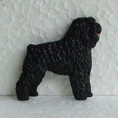 Bouvier des Flandres Brooch Dog Breed Jewellery Handpainted Handcrafted Resin