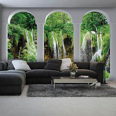 Fototapeten Fototapete Tapeten Tapete Poster Wandbild Wasserfall Natur 2347  FOR SALE