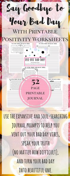 The questions in this journal help you get through those days when you just can't take it anymore. Learn how to get over a bad day, and let the journal questions guide you into the depths of your soul - where you know exactly what you need to get you back to your amazing, high-vibe, authentic self in no time! Flip your focus to self-love, and self-care!