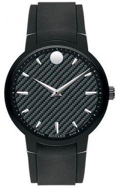 d2db5ba8d88b Movado Gravity Black Carbon Fiber Men s Watch 0606849 Stainless Steel Case