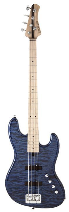 MODULUS Genesis VJ-4 Trans Blue Quilted Maple Top...