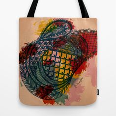 """Every me, every you"" totebag  by Juliana Rumple. Society 6"