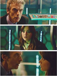 """""""The strange thing is, I have filmed my first scene with him and the first thing we did was the regeneration and I was looking him in the eyes and I had no idea what he was going to do and vice versa.""""  - Jenna Coleman"""