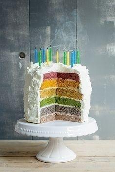 Dit is het ultieme bakmonster! Bak deze taart alleen als je energie genoeg hebt voor een kleurrijk avontuur! Het is een enorm bewerkelijke taart,...