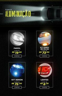 E-mail Marketing desenvolvido para o parceiro de peças automotivas da rede de varejo Ricardo Eletro. #car #automotive #lighting #design #webdesign #mkt #gif