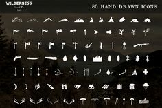 Hand drawn design element, arrows, antlers, trees, hipster, earthy, textures,  This kit gives you a touch of the wilderness in an instant! Choose your icon of choice, a logo shape and texture and in under 5 minutes you've made a hand drawn logo! The Wilderness Survival