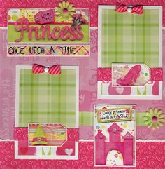 princess scrapbook layouts | ... PRINCESS ~ girl 2 premade pages 12X12 scrapbook BY CHERRY scrapbooking
