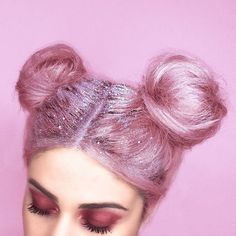Glitter Roots Are Apparently A Thing Now, Taking The Internet By Storm ❤ liked on Polyvore featuring hair, backgrounds, people, pink and beauty