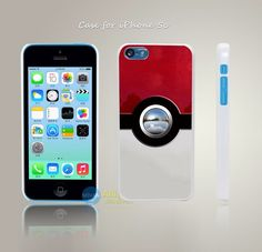 Poke Ball Style Pokemon Go Hard White Case Cover Coque for iPhone 4 4s 4g 5 5s…