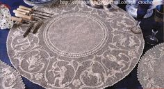 Zodiac mat design - an example of Orvieto crochet lace