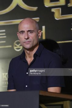 Mark Strong attends the 'Kingsman: The Golden Circle' press conference at Yongsan CGV on September 21, 2017 in Seoul, South Korea.