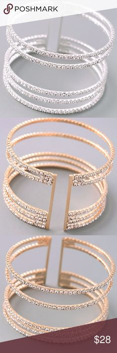 Natasha Silver & Diamond Bracelet (Faux) Beautiful, sexy and classy bracelet. Dainty with faux silver/diamonds! Available in gold under a separate listing! Jewelry Bracelets