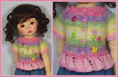 Spring Sweater for Saffi by Meadowdolls Maggie & Kate Create