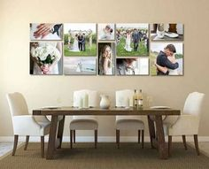 Unique Ways To Display Your Photos In Your Home :: Southeast Nebraska Family Photographer - dirtroadphotography.com Photo Frame Display, Display Family Photos, Display Ideas, Display Wall, Canvas Display, Display Pictures, Family Pictures, Wedding Picture Walls, Wedding Wall