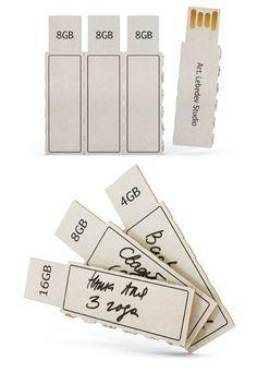 Cardboard flash storage from Art Lebedev.